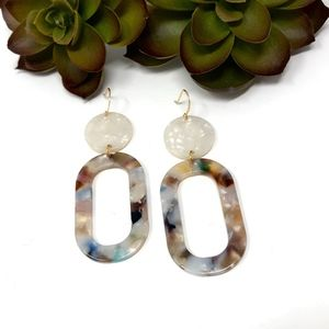 Pearly Lightweight Acrylic Earrings